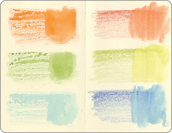 Листы для акварели на какой стороне рисовать